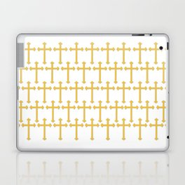 Golden Cross Pattern Laptop & iPad Skin