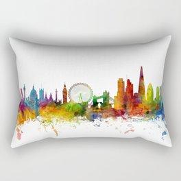 London England Skyline Cityscape Rectangular Pillow