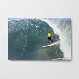 South Africa, Surfing atJeffrey's Bay Metal Print