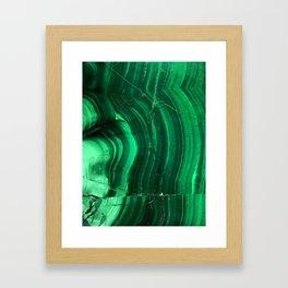 Malachite Texture Framed Art Print