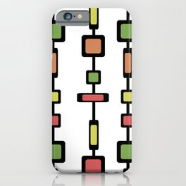 Mid Century Squares Art iPhone Case