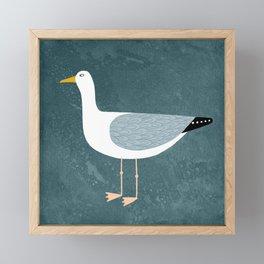 Seagull Standing Framed Mini Art Print