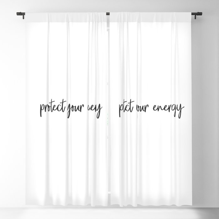 Protect your energy Blackout Curtain