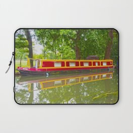 Canal Boat Painted Laptop Sleeve