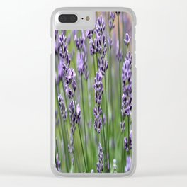 Lavender Plant Clear iPhone Case