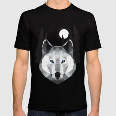 The Tundra Wolf MEDIUM Black Mens Fitted Tee
