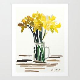 Daffodil Days Art Print