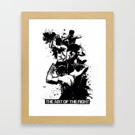 The Art of The Fight Framed Art Print