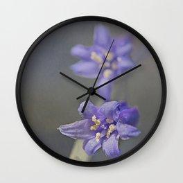 Woodland Bluebell Wall Clock