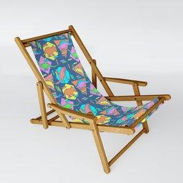 Nineties Dinosaur Pattern Sling Chair
