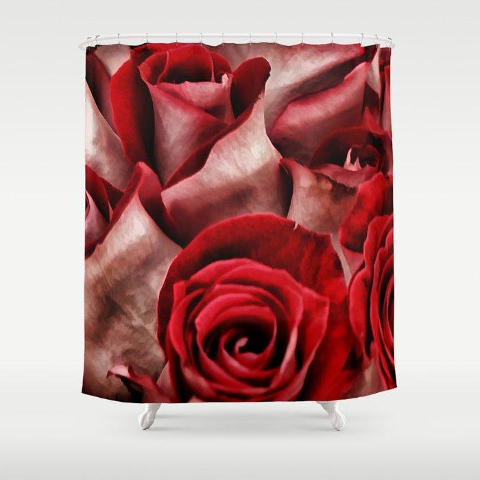 Velvet Roses Shower Curtain