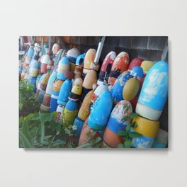 Stand Up Buoys And Be Counted Metal Print