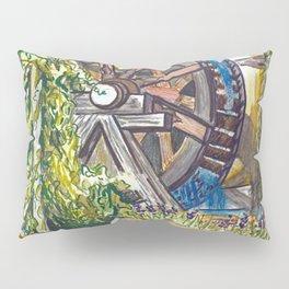 Wind Rose Mill Water Wheel Pillow Sham