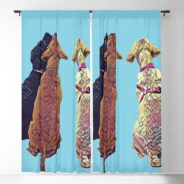 Three Amigos I in aqua Blackout Curtain