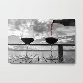 Wine Enthusiast Metal Print