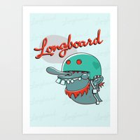 Longboard Art Print
