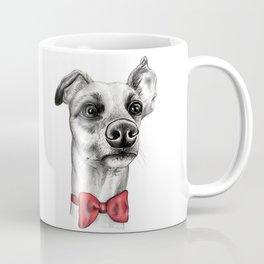 Whippet Wearing Bow Tie Coffee Mug