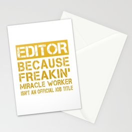 EDITOR Stationery Cards