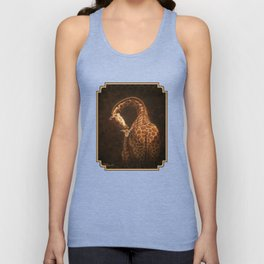 Reticulated Giraffe Mother and Baby Unisex Tank Top