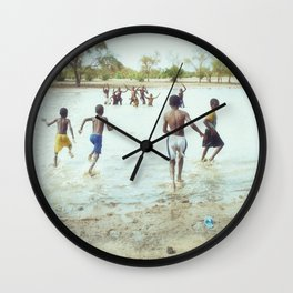 Just Being Boys Wall Clock