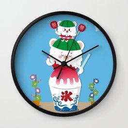 suika bear Wall Clock