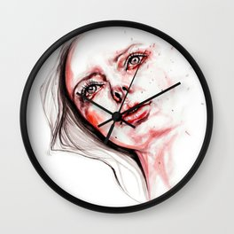 Blood red tears Wall Clock
