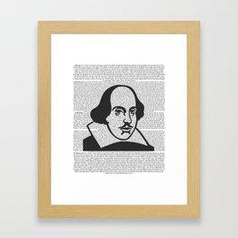 Words of Shakespeare Framed Art Print