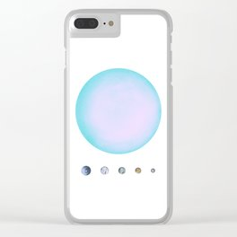 Uranus & Moons Clear iPhone Case