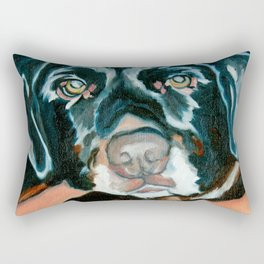 Daisy the Black Lab Dog Portrait Rectangular Pillow