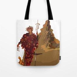 BACCHUS AT POMPEII - VESUVIUS Tote Bag