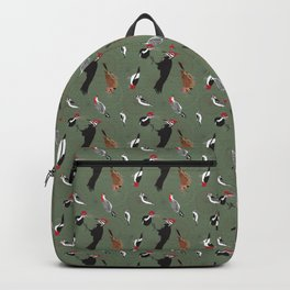 North American Woodpeckers - Green Backpack