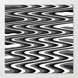 Monochromatic black white slur Canvas Print