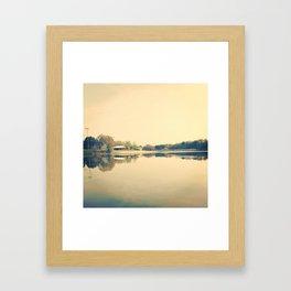Lake Herrick- Athens, GA Framed Art Print