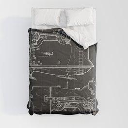 Sewing Machine 1916 Patent Print Comforters