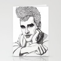 smiths Stationery Cards featuring This Charming Man  by Paul Nelson-Esch Art