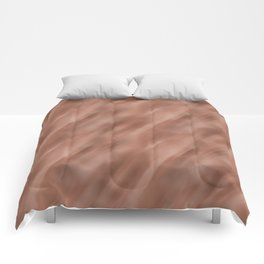 Abstract Motion Blur Blended Colors Inspired By Sherwin Williams Cavern Clay SW 7701 Comforters
