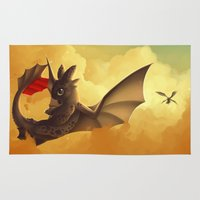 toothless Area & Throw Rugs featuring Toothless! by NezuPanda