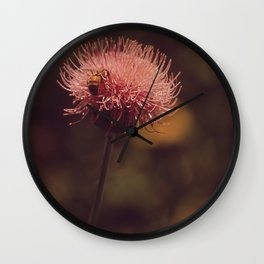 flower, honey Wall Clock