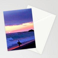 Sunset Skimboarder Stationery Cards