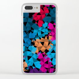 Colorful geometric Shapes Clear iPhone Case