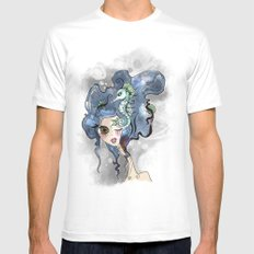 the deep girl-1 Mens Fitted Tee White MEDIUM