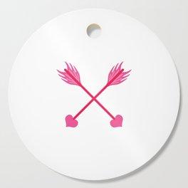 Love Cross Arrows Cutting Board