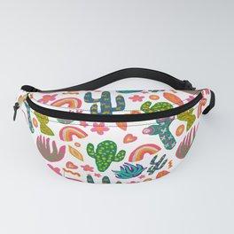 Colorful Cactus/Happy Cactus/Rainbow Cactus/Cactus painting/Cactus Patterns Fanny Pack
