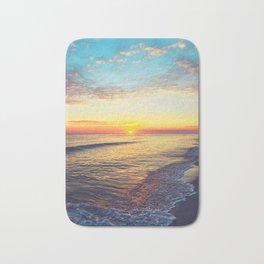 Summer Sunset Ocean Beach - Nature Photography Bath Mat