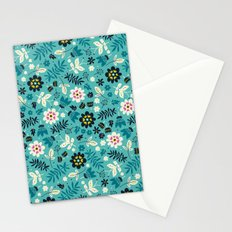 Fresh Blossoms (Greens) Stationery Cards