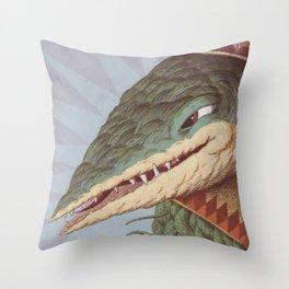 Croc Surprise Throw Pillow