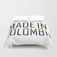 colombia Duvet Covers featuring Made In Colombia by VirgoSpice