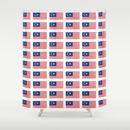 Flag of Malaysia-malay,malaysian,Kuala Lumpur,Malacca,malasia. Shower Curtain