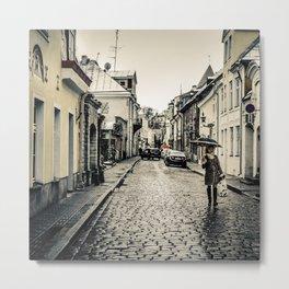 Street in Tallinn Metal Print