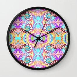 Light Blue Symmetry Wall Clock